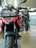 Two cruiser motorcycles. Royalty Free Stock Image