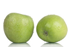 Two crunchy apples Royalty Free Stock Photo