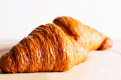 Two crunchy croissants Royalty Free Stock Image