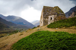 Two crypt and green ivy in Chegem canyon. In Kabardino-Balkaria Stock Photography