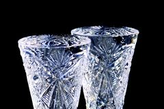 Two crystal glasses royalty free stock photography
