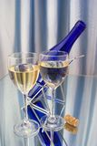 Two crystal glasses of wine Royalty Free Stock Photos