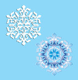 Two crystal snowflakes. Stock Images