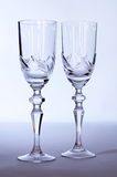 Two crystal wedding glasses Royalty Free Stock Images