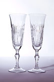 Two crystal wedding glasses Royalty Free Stock Photography