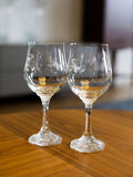 Two crystal wine glasses Royalty Free Stock Photography