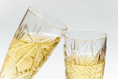 Two crystal wineglasses Royalty Free Stock Photo