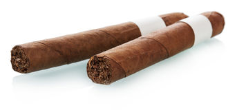 Two cuban cigars Stock Photo