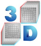 Two cubes Stock Image