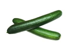 Two cucumber Royalty Free Stock Images