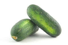 Two cucumbers Royalty Free Stock Images
