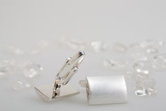 Two cufflinks Stock Images