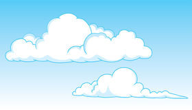 Two cumulus clouds Royalty Free Stock Image