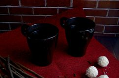 Two cup of coffee Royalty Free Stock Images