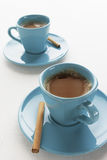 Two cup of coffee. With cinnamon Royalty Free Stock Images