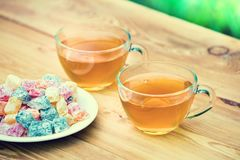 Two cup of green tea Stock Image