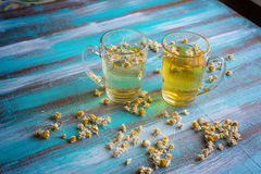 Two cup of herbal tea Stock Images