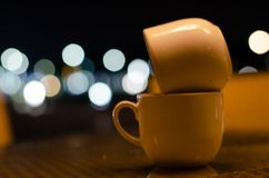 Twi cup of coffee royalty free stock photo
