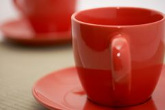 Two cup and saucer Royalty Free Stock Image