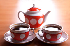 Two cup of tea Stock Photo