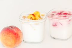 Two cup of yogurt Royalty Free Stock Images