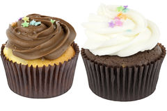 Two Cupcakes royalty free stock photos