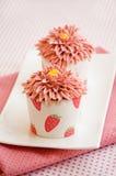 Two cupcakes Stock Photos