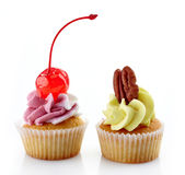 Two cupcakes Royalty Free Stock Images
