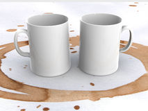 Two cups Stock Photos
