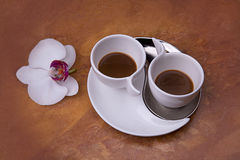Two cups of aromatic coffee Royalty Free Stock Photography