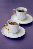 Two cups of black coffee Royalty Free Stock Image