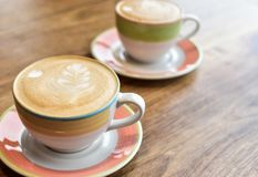 Two cups of cappuccino royalty free stock image