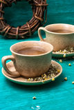 Two cups of chamomile tea Royalty Free Stock Images