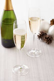 Two cups of champagne Stock Images