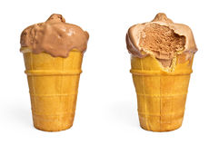 Two cups of chocolate ice cream Royalty Free Stock Photo
