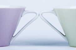 Two cups close-up Royalty Free Stock Image