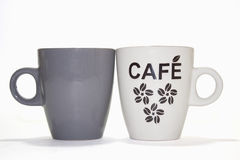 Two cups of coffe Stock Images