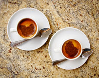 Two cups of coffee. Stock Photo