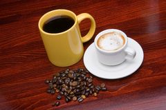 Two cups of coffee 2 Stock Images