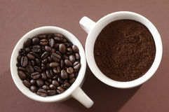 Two cups of coffee royalty free stock images