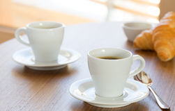 Two cups of coffee. Stock Photos