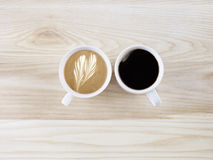 Two cups of coffee Royalty Free Stock Image