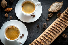 Two cups of coffee Royalty Free Stock Photography