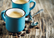 Two Cups of coffee. Espresso Royalty Free Stock Photography