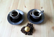 Two cups of coffee Royalty Free Stock Photo