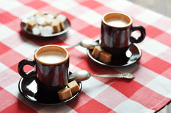 Two cups of espresso Royalty Free Stock Photo