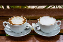 Two cups of espresso Royalty Free Stock Images