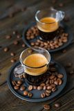 Two cups of espresso Royalty Free Stock Image