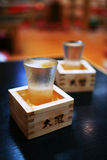 Two Cups Filled With Sake