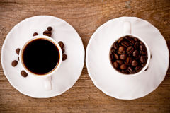 Two cups full of coffee Royalty Free Stock Photography